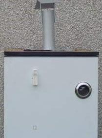 adapted cold smoking fridge