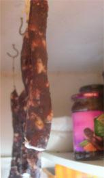 salami in larder
