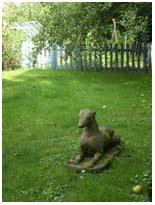 old stone dog