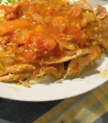 Rabbit slow cooked with Mediterranean vegetables