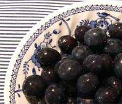 a dish of ripe damsons