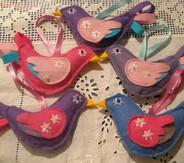 Handmade fantasty felt bird lavender bags