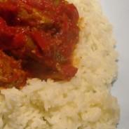 Recipe for pork tenderloin in a tomato and pepper sauce