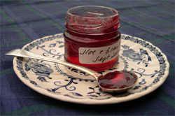 a tiny pot of sloe jelly