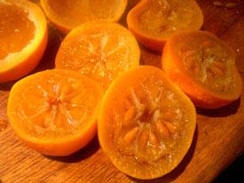 Photo: Simmered Seville oranges